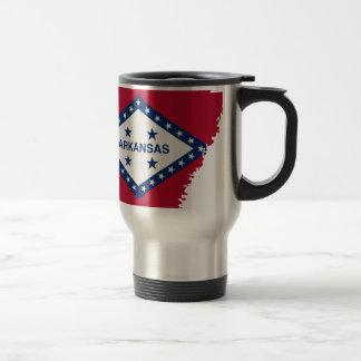 Flag Map Of Arkansas Travel Mug