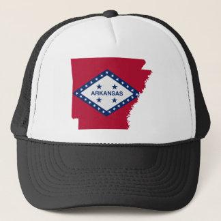 Flag Map Of Arkansas Trucker Hat