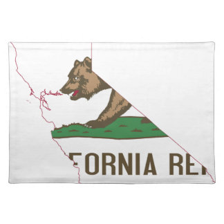 Flag Map Of California Placemat