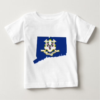 Flag Map Of Connecticut Baby T-Shirt