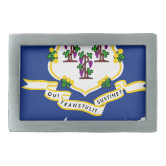 Flag Map Of Connecticut Belt Buckle