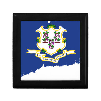 Flag Map Of Connecticut Gift Box