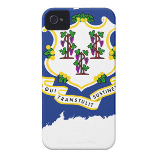 Flag Map Of Connecticut iPhone 4 Case-Mate Cases