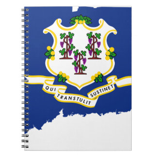 Flag Map Of Connecticut Notebooks
