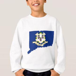 Flag Map Of Connecticut Sweatshirt