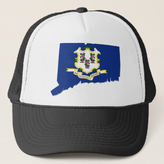 Flag Map Of Connecticut Trucker Hat