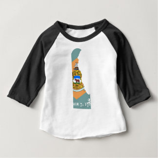 Flag Map Of Delaware Baby T-Shirt
