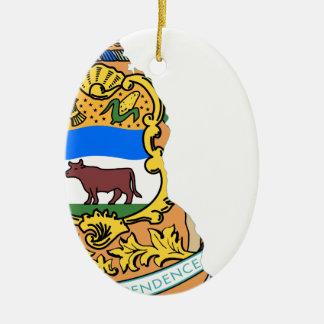 Flag Map Of Delaware Ceramic Ornament