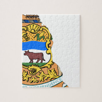 Flag Map Of Delaware Jigsaw Puzzle