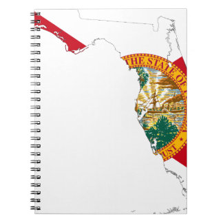 Flag Map Of Florida Notebook