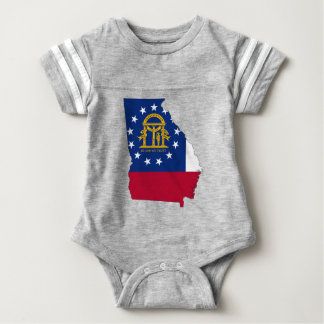 Flag Map Of Georgia Baby Bodysuit