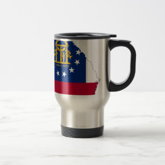Flag Map Of Georgia Travel Mug