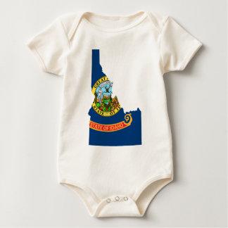 Flag Map Of Idaho Baby Bodysuit