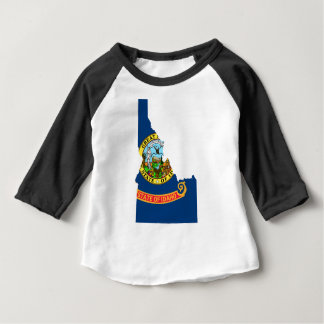 Flag Map Of Idaho Baby T-Shirt