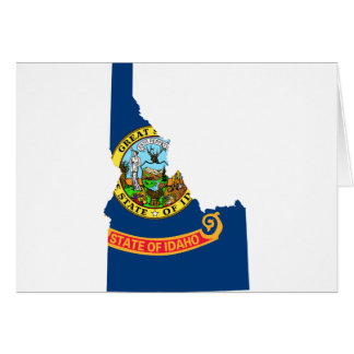Flag Map Of Idaho Card