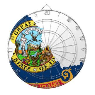 Flag Map Of Idaho Dartboard