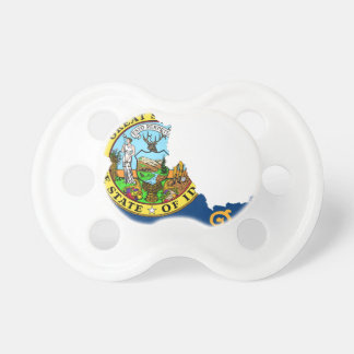 Flag Map Of Idaho Pacifier