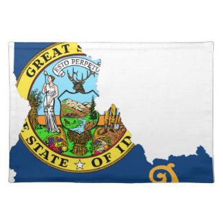 Flag Map Of Idaho Placemat