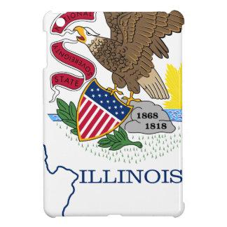 Flag Map Of Illinois Cover For The iPad Mini