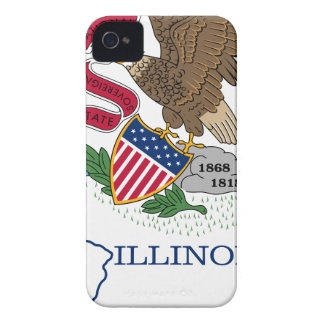 Flag Map Of Illinois iPhone 4 Case-Mate Case