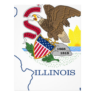 Flag Map Of Illinois Letterhead