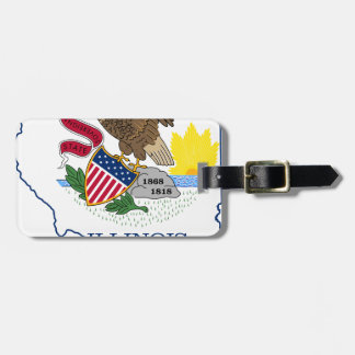 Flag Map Of Illinois Luggage Tag