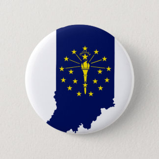 Flag Map Of Indiana 2 Inch Round Button