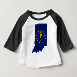 Flag Map Of Indiana Baby T-Shirt
