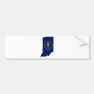 Flag Map Of Indiana Bumper Sticker