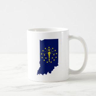 Flag Map Of Indiana Coffee Mug
