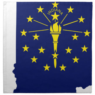 Flag Map Of Indiana Napkin