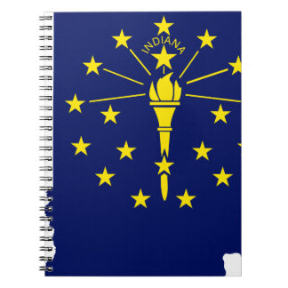 Flag Map Of Indiana Notebook