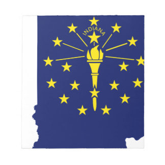 Flag Map Of Indiana Notepad