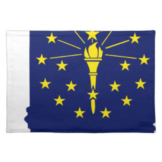 Flag Map Of Indiana Placemat