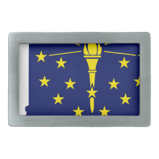 Flag Map Of Indiana Rectangular Belt Buckle