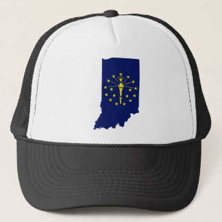 Flag Map Of Indiana Trucker Hat