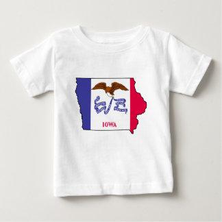 Flag Map Of Iowa Baby T-Shirt