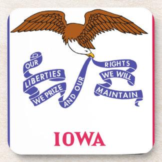 Flag Map Of Iowa Coaster