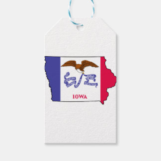 Flag Map Of Iowa Gift Tags