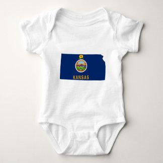 Flag Map Of Kansas Baby Bodysuit