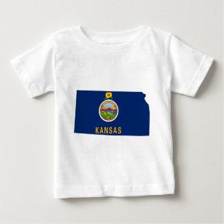 Flag Map Of Kansas Baby T-Shirt