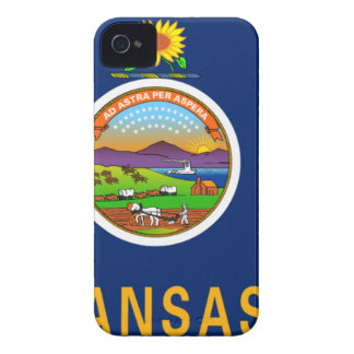 Flag Map Of Kansas iPhone 4 Cover