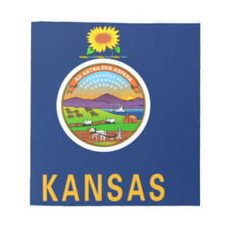 Flag Map Of Kansas Notepad