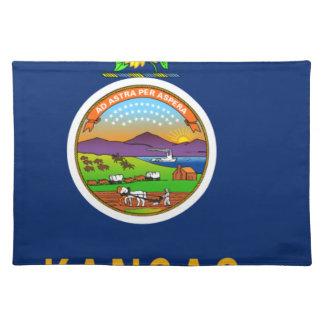 Flag Map Of Kansas Placemat