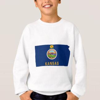 Flag Map Of Kansas Sweatshirt