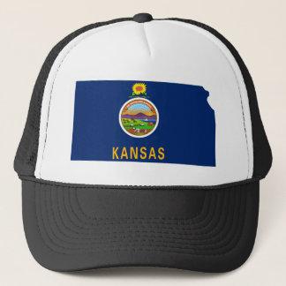 Flag Map Of Kansas Trucker Hat