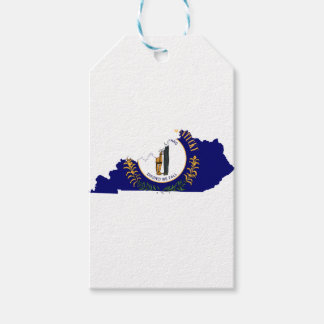 Flag Map Of Kentucky Gift Tags