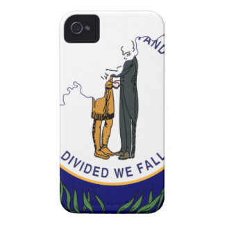 Flag Map Of Kentucky iPhone 4 Case-Mate Cases