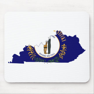 Flag Map Of Kentucky Mouse Pad