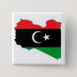 Flag-map of Kingdom of Libya 2 Inch Square Button